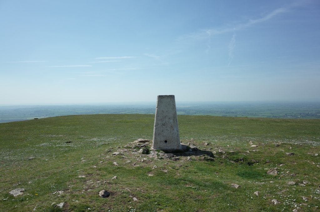 Wavering Down trig point