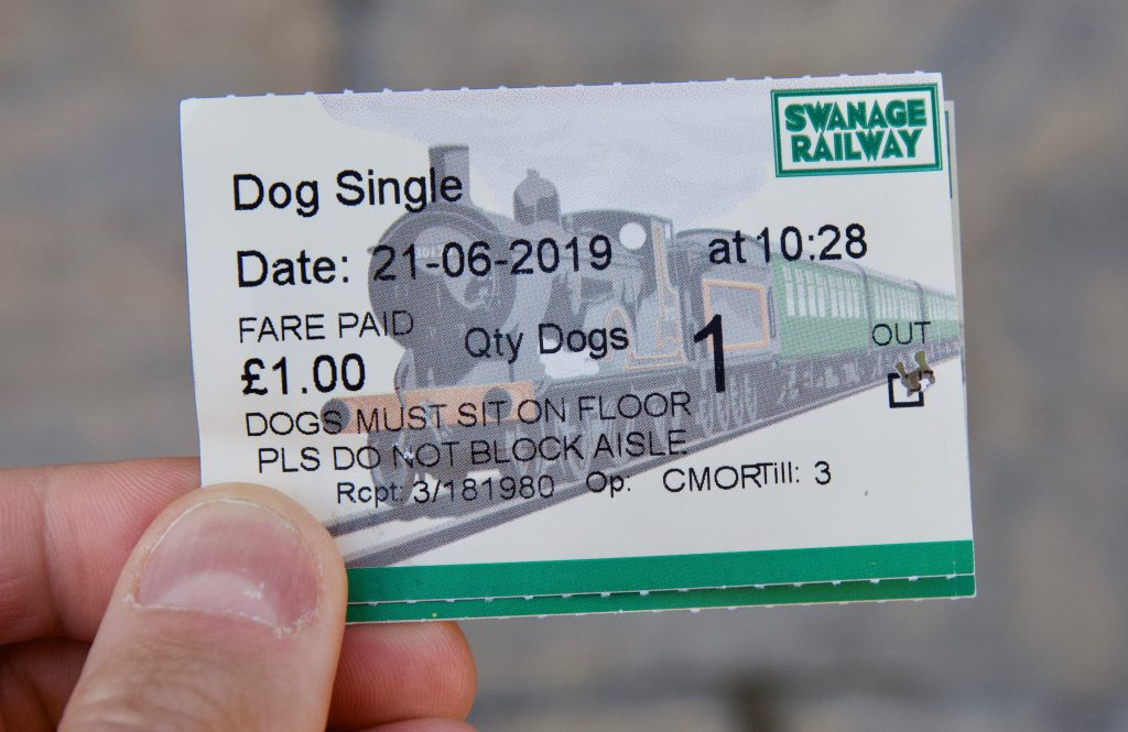 Swanage Railway Dog train ticket