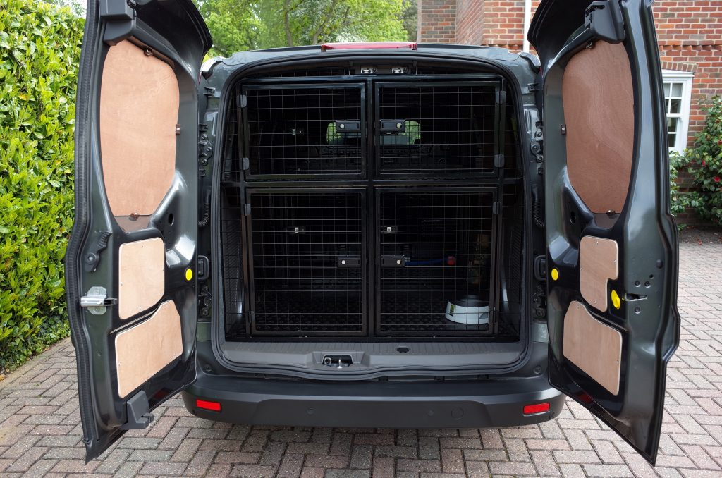 Dog van cages