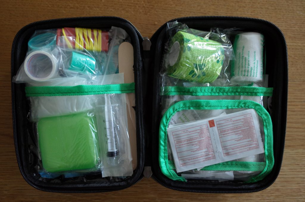 Pet first aid kit dog walker