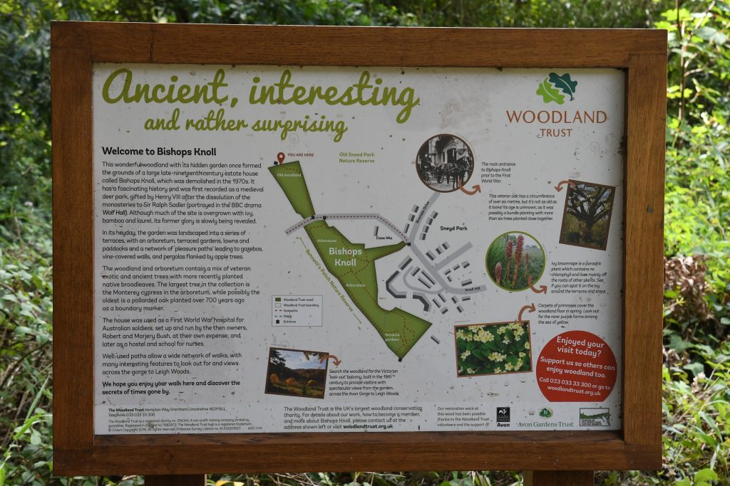 Bishops Knoll Woodland Trust sign