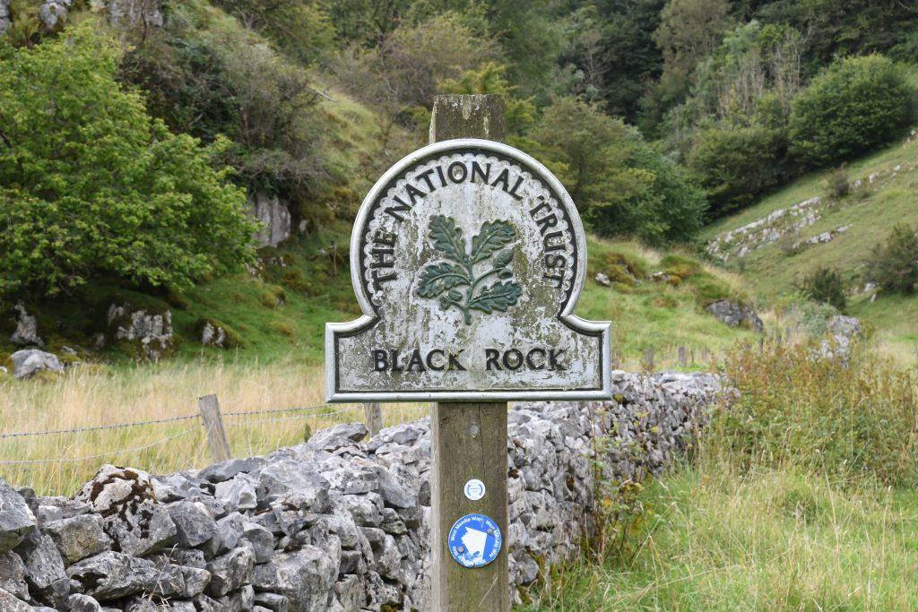 Black Rock Somerset National Trust Sign